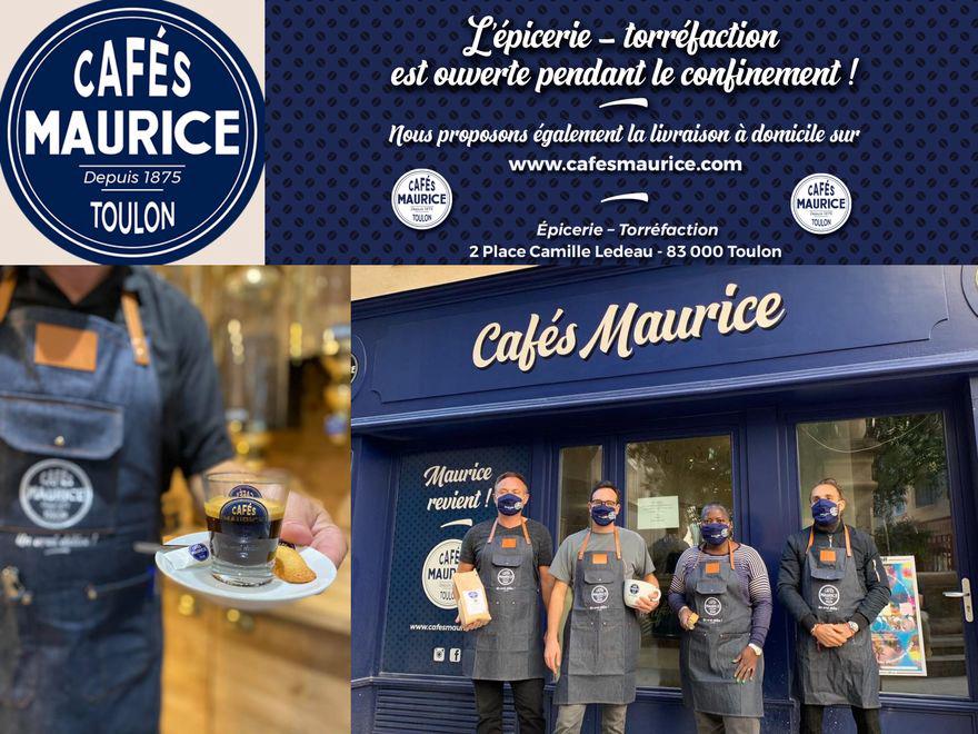 Cafés Maurice reste ouvert pendant le confinement