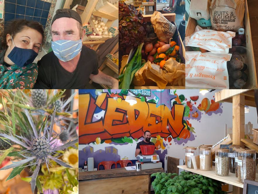L'Eden épicerie paysanne reste ouverte et vous livre pendant le confinement.