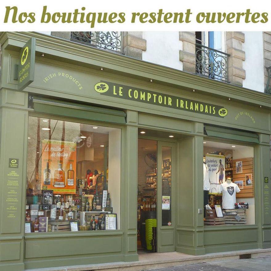 Votre boutique Le Comptoir Irlandais (15 place de la Cathédrale à Toulon) reste ouverte pour vos achats.