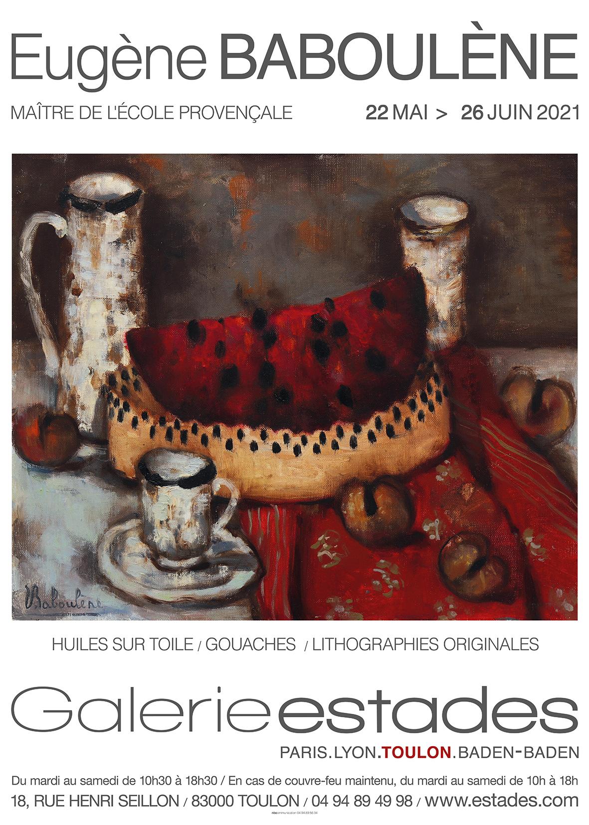 Exposition Eugène Baboulène à la Galerie Estades du 22 mai au 26 juin