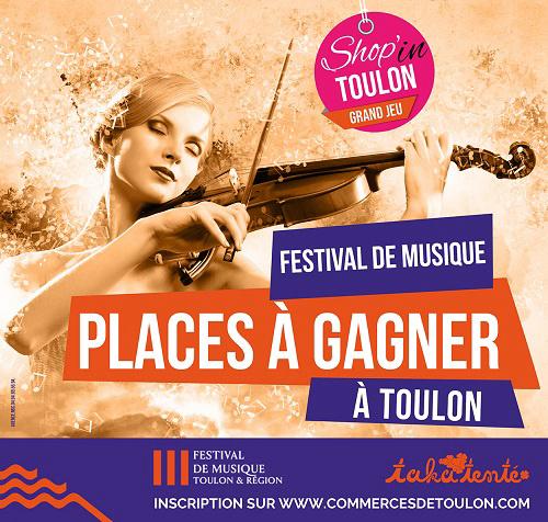 [JEU CONCOURS 😍🎶😍] : FESTIVAL DE MUSIQUE DE TOULON 🎻🎶🎹