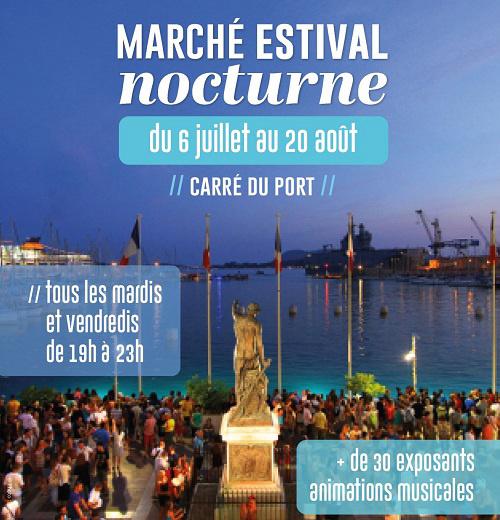 Marché estival nocturne de Toulon